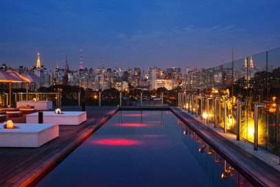 Das Hotel Unique in São Paulo wartet mit Aussicht auf die faszinierende Skyline der Stadt auf