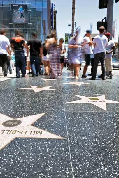 Der Walk of Fame: Mittlerweile wurden auf dem vier Kilometer langen Gehweg fast 2400 Stars mit Bronzesternen geehrt