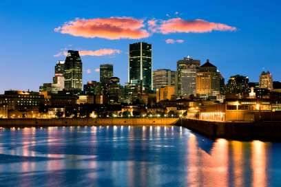 Die Skyline von Montreal, der zweitgrößten französischsprachigen Stadt nach Paris