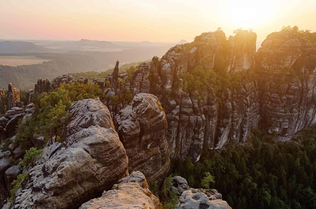 Blick auf die Tafelberge der Sächsischen Schweiz