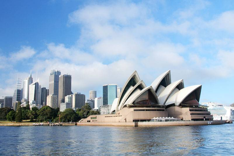 Das 1973 eröffnete Opernhaus von Sydney: Mehr als eineinhalb Millionen Fliesen reflektieren das Sonnenlicht