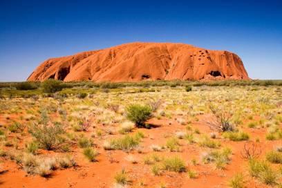 Der Uluru ist der heilige Berg der Ureinwohner und eines der Wahrzeichen Australiens