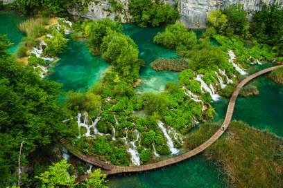 Fast schon unwirklich schön: Die Plitvicer Seen sind einfach atemberaubend