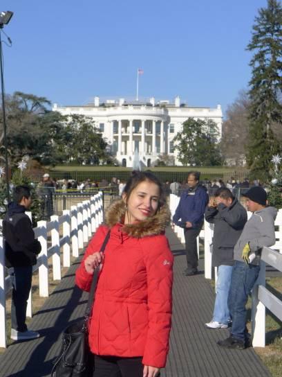Hello, Mr. President! Imposante Kulisse – das White House!