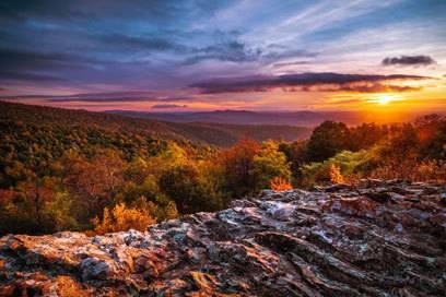 Schöne Aussichten: Der Shenandoah Nationalpark in Virginia.