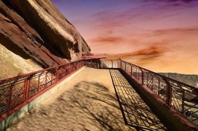 Fast zu schön, um wahr zu sein: Das Red Rocks Amphitheater in Colorado.