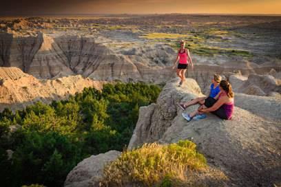 Auf dem Mond gelandet? Nein, die Badlands in South Dakota sind eine surreale Kraterlandschaft!