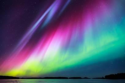 Was für ein Farbrausch! Auf der Keweenaw-Halbinsel in Michigan tauchen magische Lichter auf.