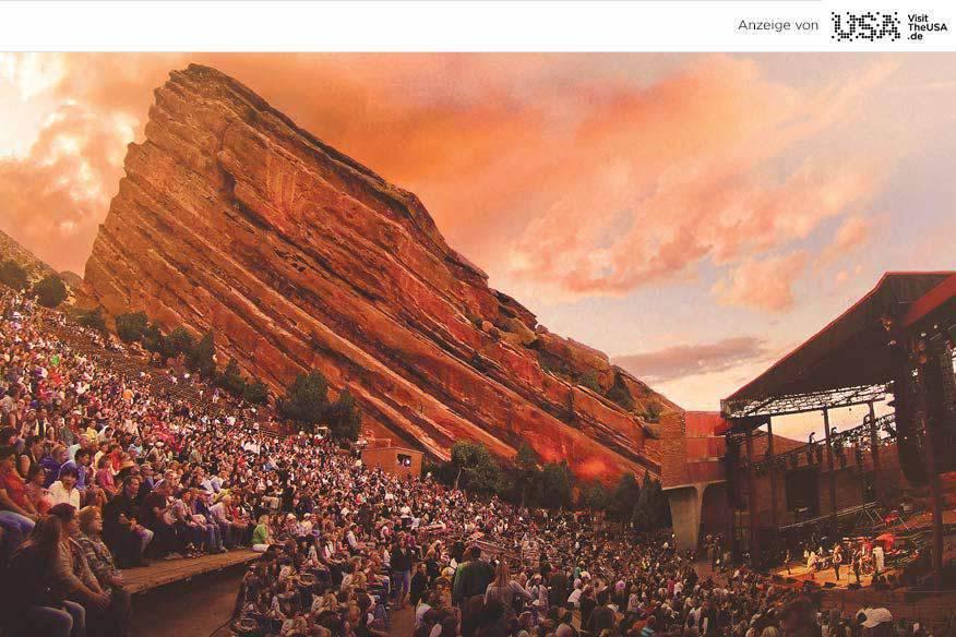 Das Red Rocks Amphitheater zeigt ein einmaliges Naturschauspiel.