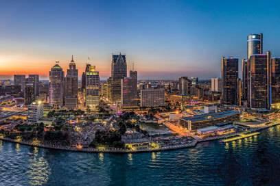 Was für ein Anblick: Die Skyline von Detroit ist wieder cool.
