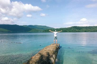 Auch auf den Philippinen wie hier auf der Insel Palawan ließ es sich Johnny gutgehen