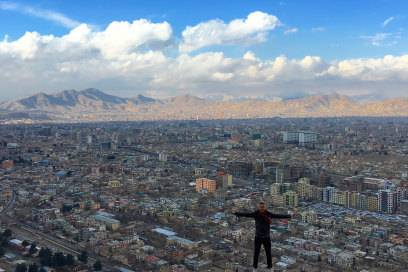 So sieht Kabul in Afghanistan von oben aus