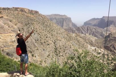 Johnny in der Nähe der Stadt Salala im Oman, unweit der Grenze zum Jemen