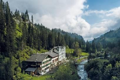 Das Hotel Rosenlaui im Berner Oberland bietet einen Ausstieg aus dem digitalen Leben – in traumhafter Landschaft