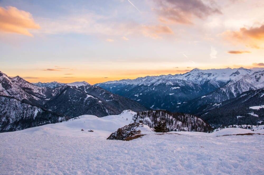 Brenta-Dolomiten hoch über Madonna di Campiglio