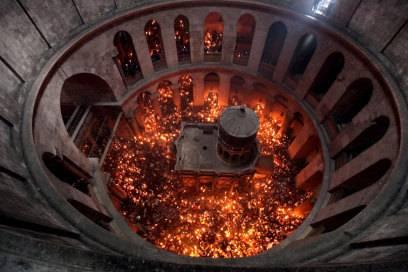 Die Lithurgie des Heiligen Lichts in der Grabeskirche