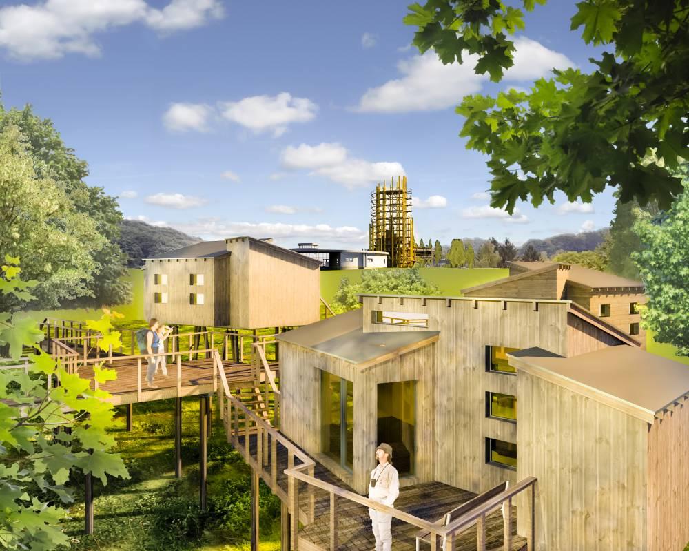 So Sollen Die Baumhäuser Des Parks Panarbora Nach Fertigstellung Aussehen.  Foto: Panarbora