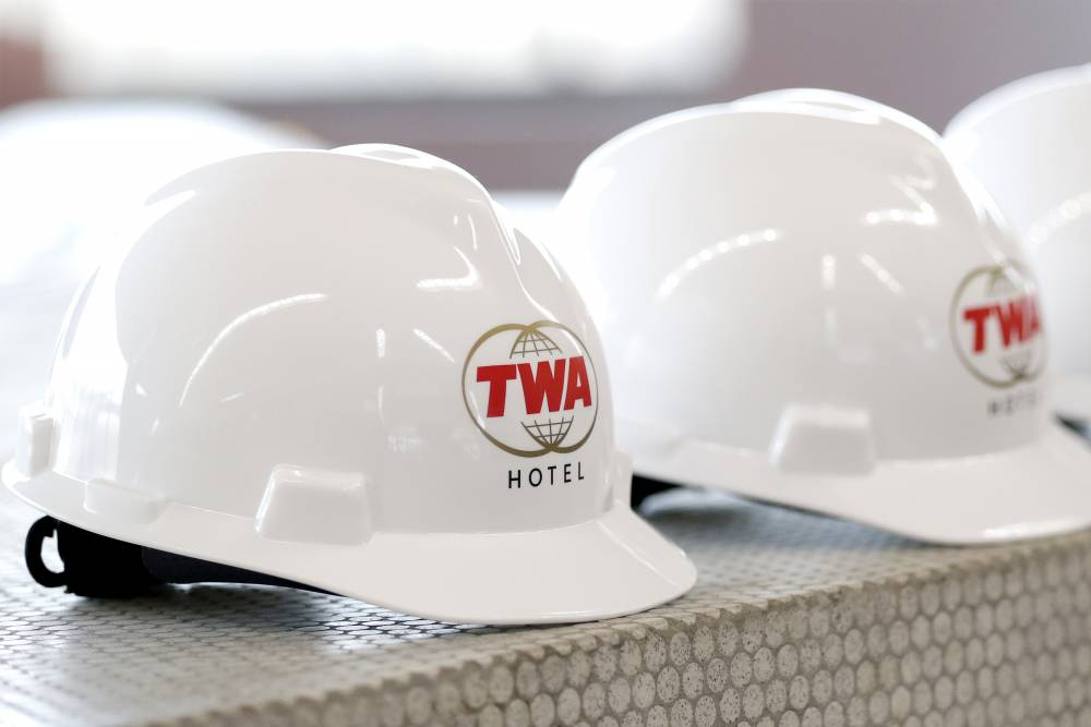 Bauarbeiten am TWA-Terminal