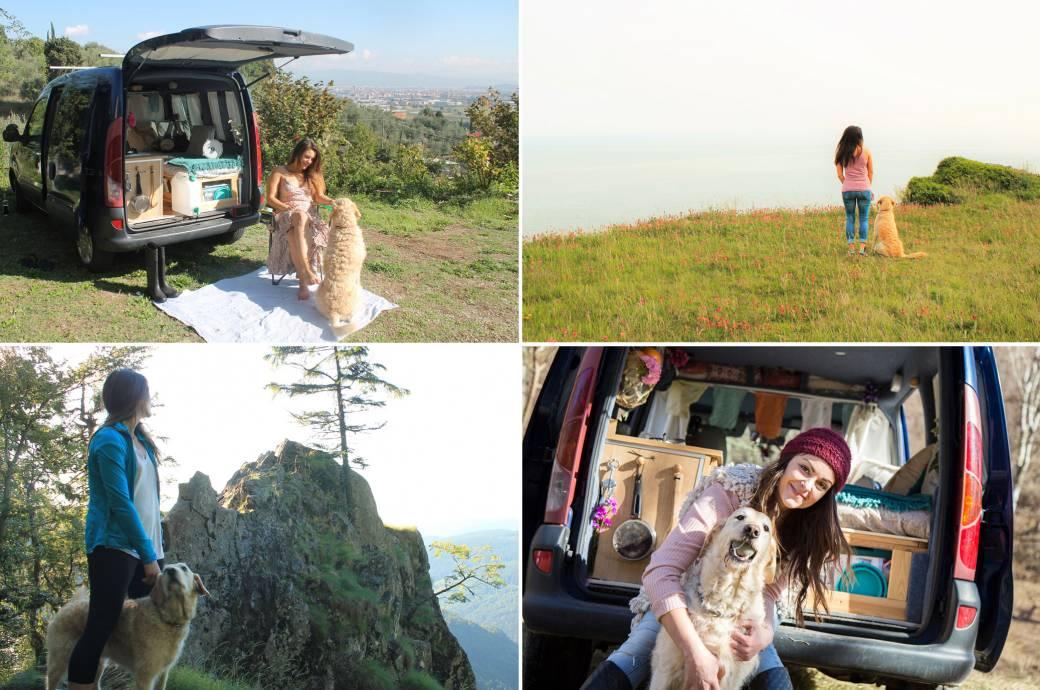 Marina hat gemacht, wovon nur all zu viele Menschen träumen: Sie hat ihren Van in ein mobiles Zuhause umgebaut und lebt, wo es ihr am besten gefällt