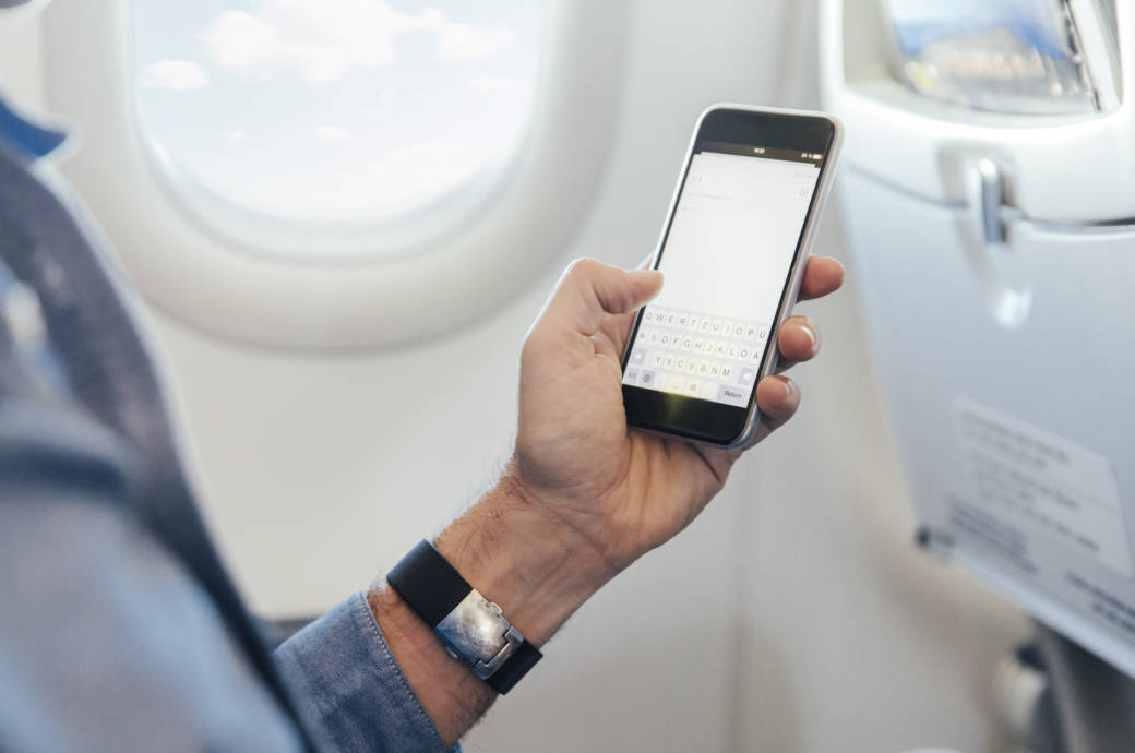 Handy im Flugzeug ,Flugmodus