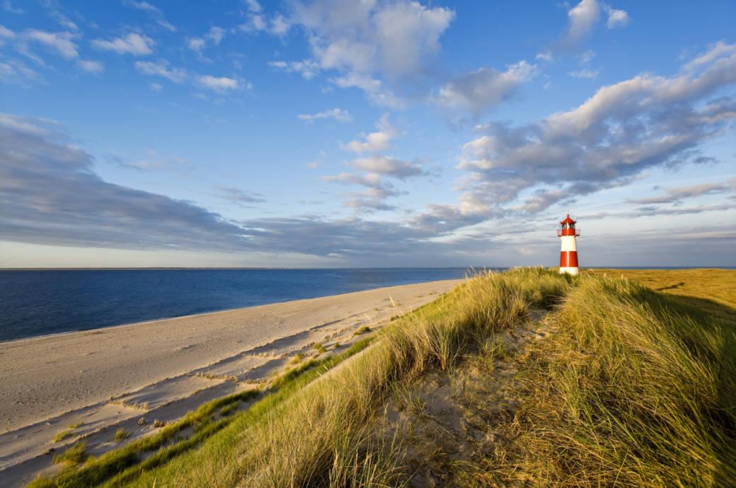 Leuchtturm List-Ost, Ellenbogen, Sylt Island, North Frisian Islands, Schleswig-Holstein