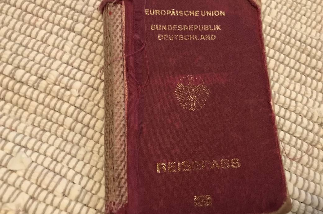 Reisepass, abgenutzt