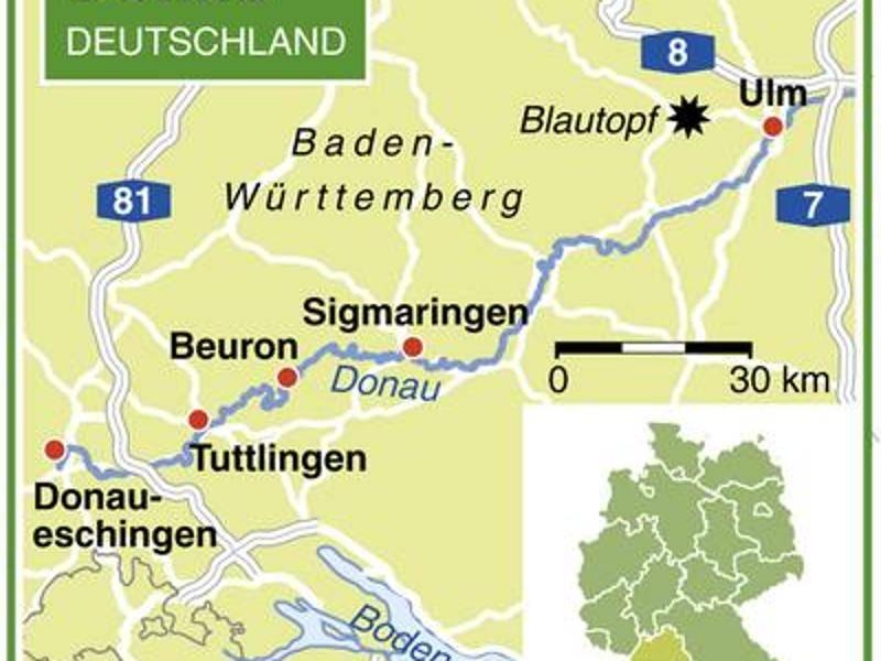 Karte junge Donau