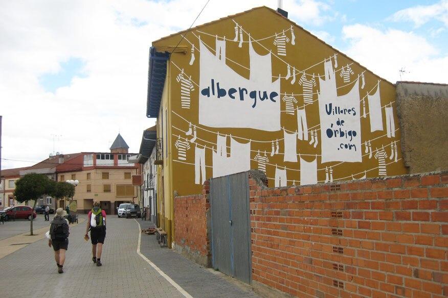Jakobsweg, Herberge in Villares de Orbigo