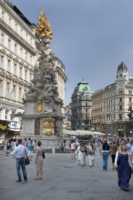 Wiener Pestsäule am Graben im ersten Bezirk von Wien