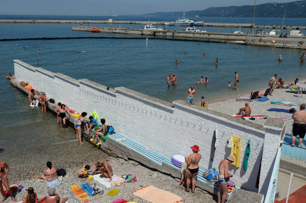 Stadtstrand in Triest