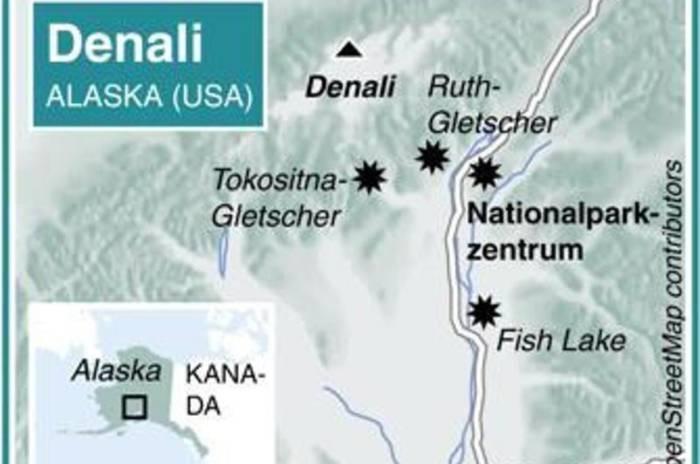 Denali-Nationalpark-Karte