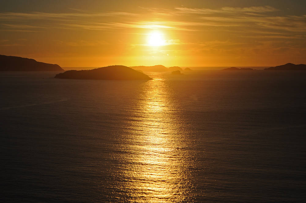 An den langen Sandstränden Ubatubas kann man wunderschöne Sonnenuntergänge erleben
