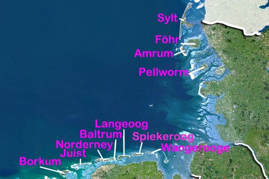 Nordfriesische Inseln Karte.Von Amrum Bis Sylt 12 Nordsee Inseln Im Urlaubs Check