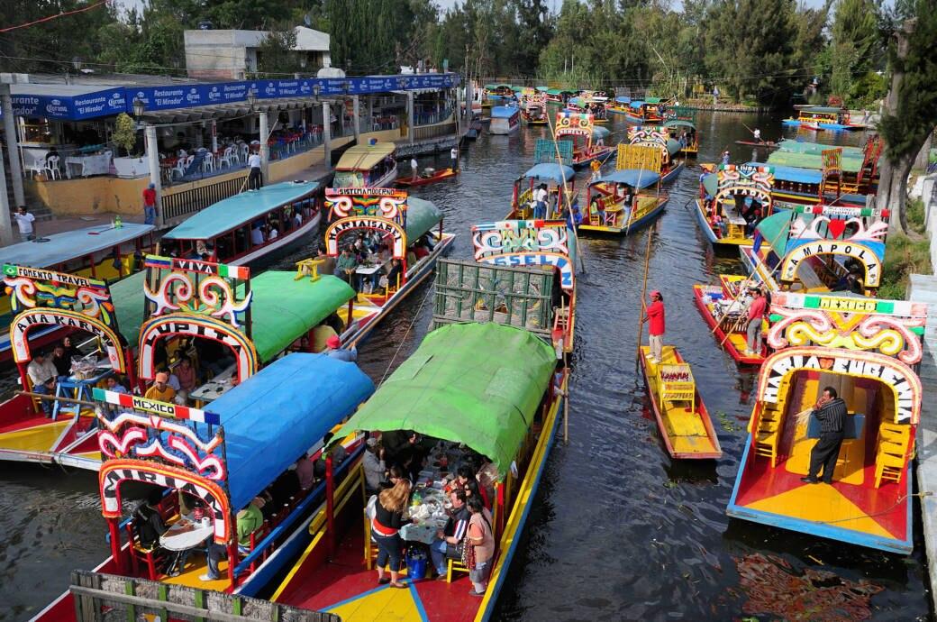Fluss in Mexico-City