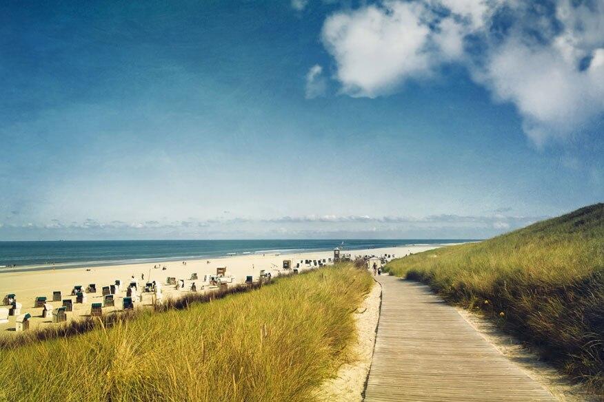 Blick auf den Strand von Spiekeroog