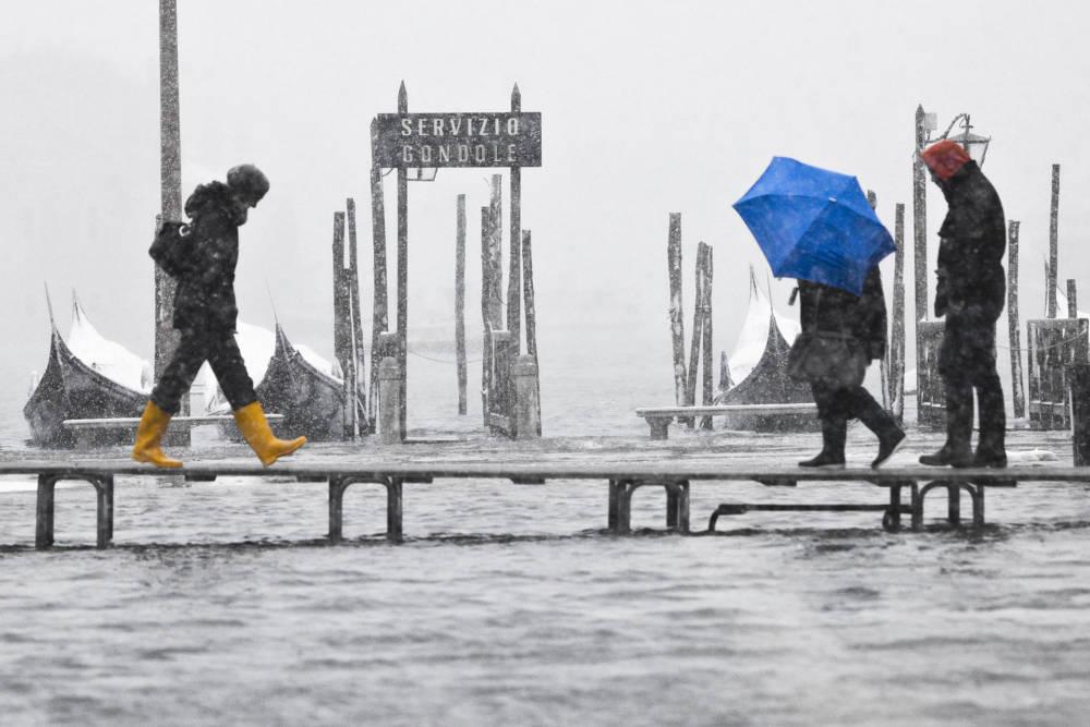 Venedig mit Regen