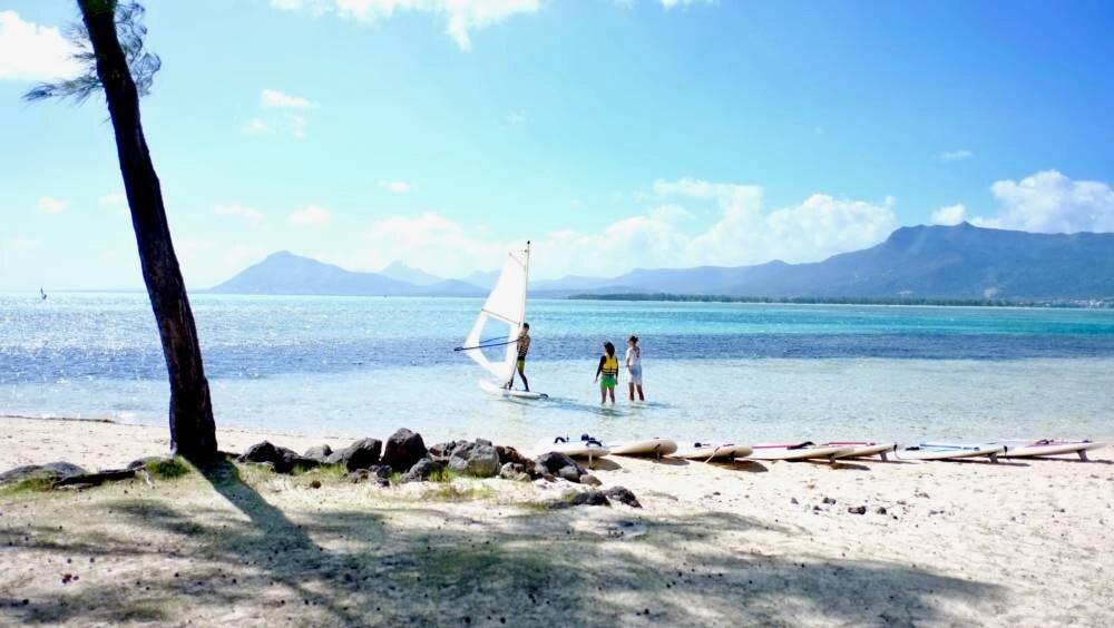 Surfen lernen auf Mauritius