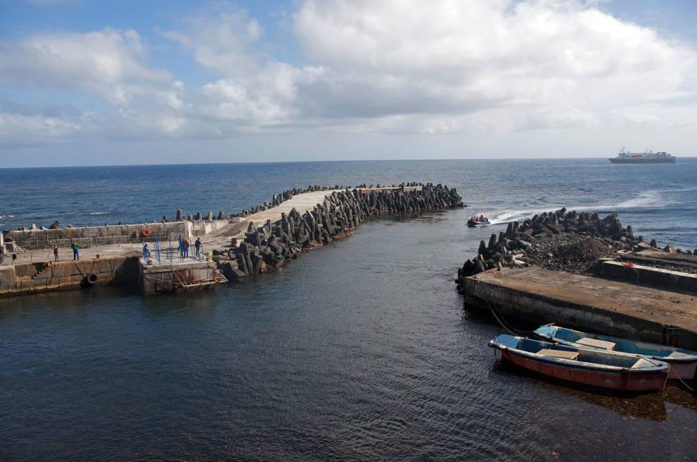 Der Hafen von Tristan da Cunha