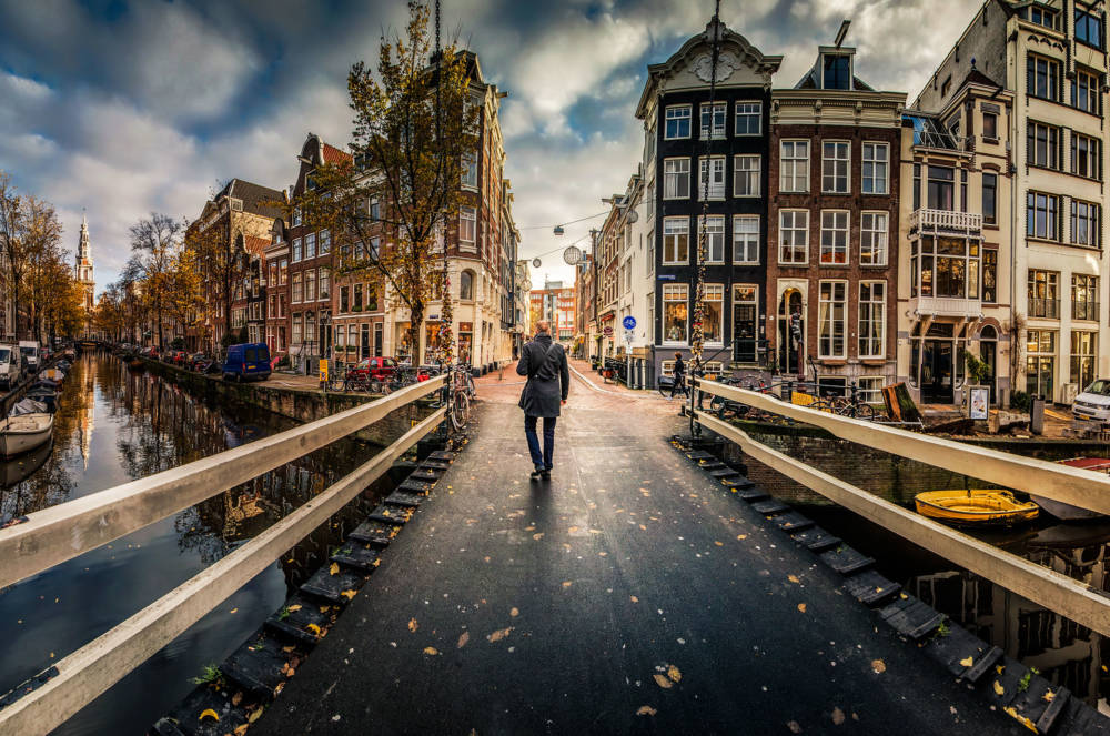 Herbstidylle in Amsterdam.