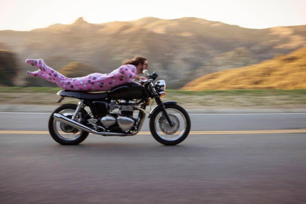 Roadtrip Playlist,. Motorrad Schlafanzug