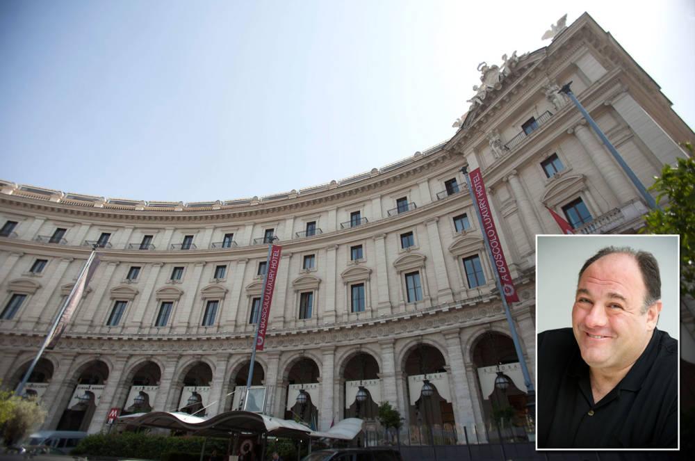 James Gandolfini – Hotel Boscolo Exedra Roma