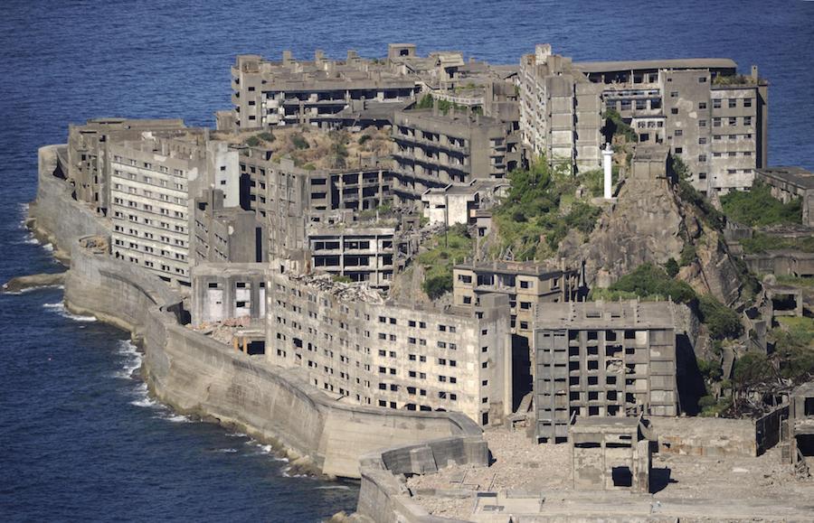 Hashima besteht fast nur aus Beton