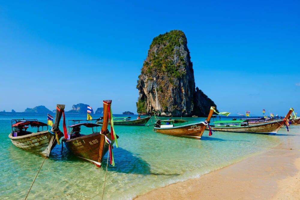Der Strand von Hat Tham Phra Nang