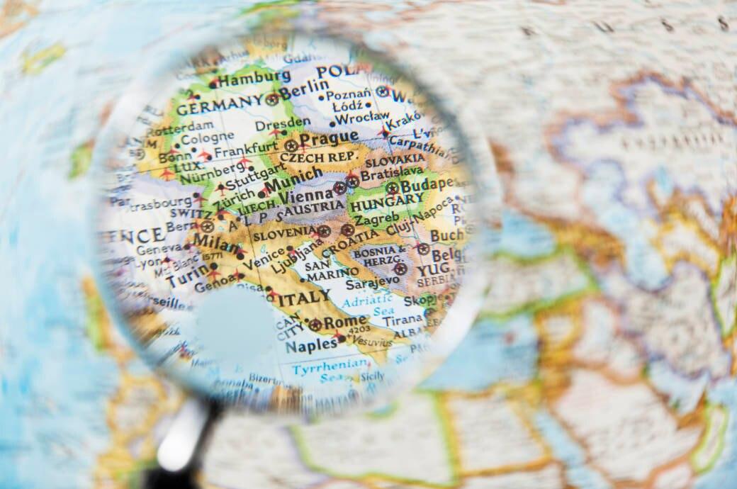 Europa, Karte
