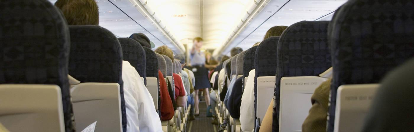 Flugzeug-Kabine