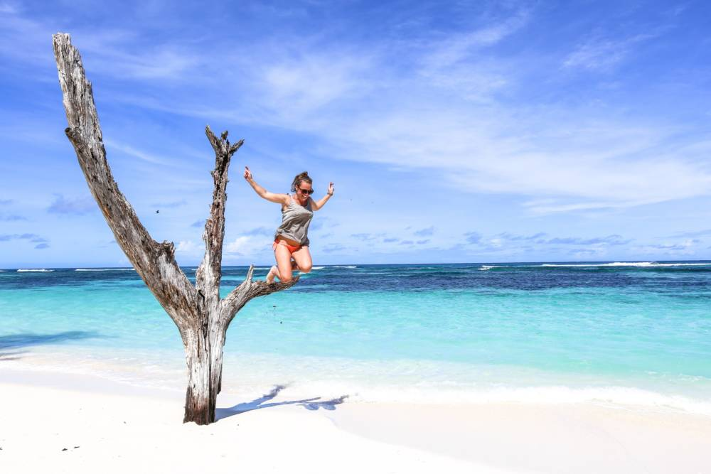 Reisebloggerin Simone Schwerdtner hat ihren Wohnsitz auf die Seychellen verlegt