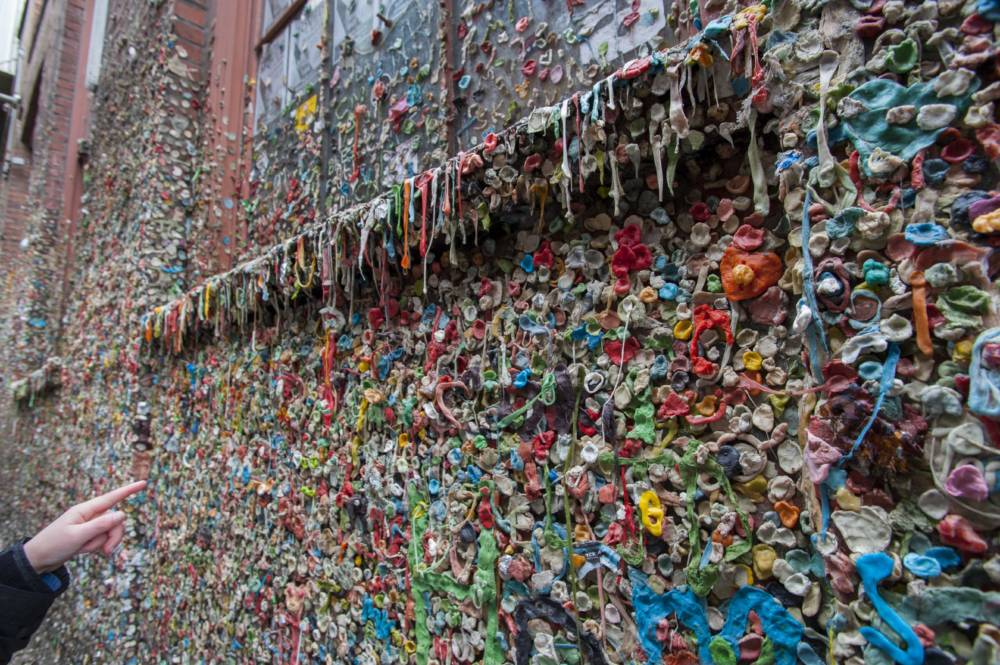 Seattle Gum Wall, Kaugummi