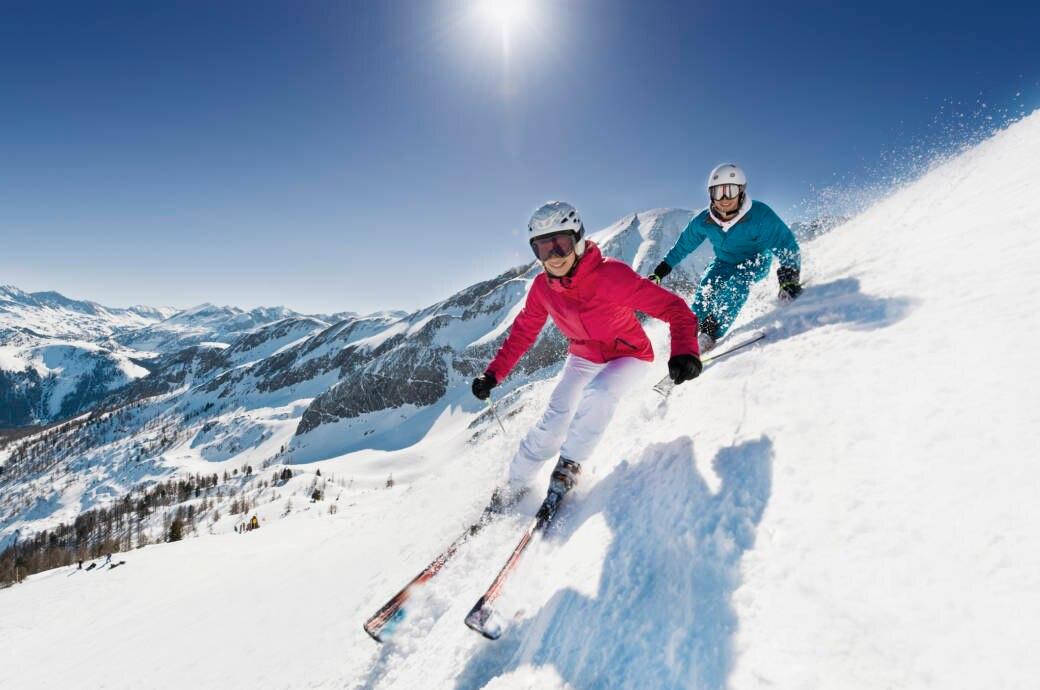 Skifahrer in Österreich
