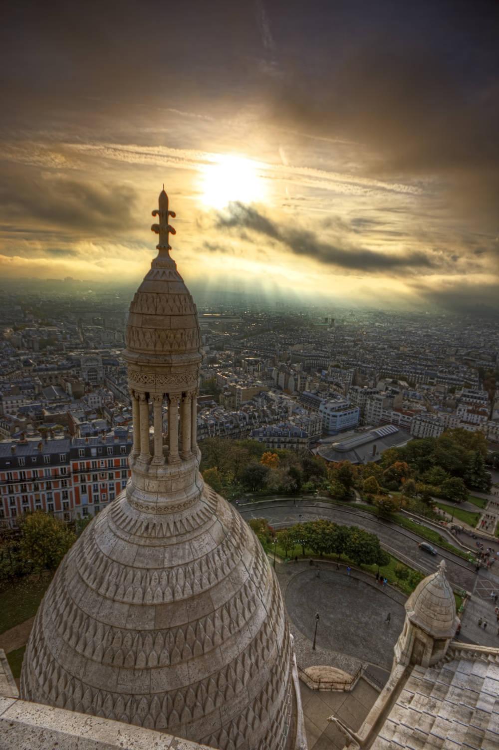Blick auf Paris von der Basilika Sacré-Coeur