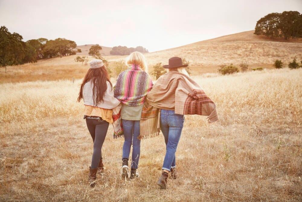 Freunde gemeinsam reisen